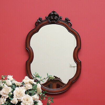 Antique French Walnut Hall Mirror, Vanity, Bed Room, Dressing Table Mirror