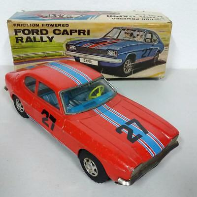 Blechplatte Auto Friction Powered By Ford Capri Rally Vintage