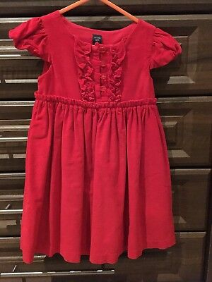 GAP Girls Age 3 Christmas Party Red Corduroy Dress fully lined worn once