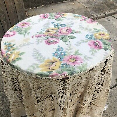 Antique, Lace & Floral Petticoat Tablecloth