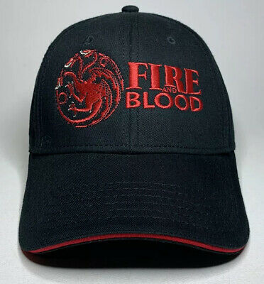 HBO x Game of Thrones Prequel Fire and Blood House Targaryen Promo Hat Cap