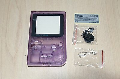 Clear Purple Gameboy Pocket New Shell Replacement Housing Case  Nintendo