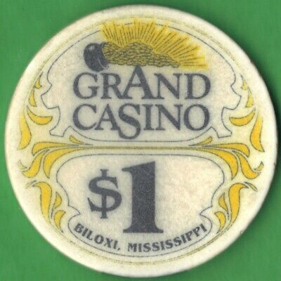 $1 Casino Chip from the Grand Casino in Biloxi, Mississippi. Free Shipping!
