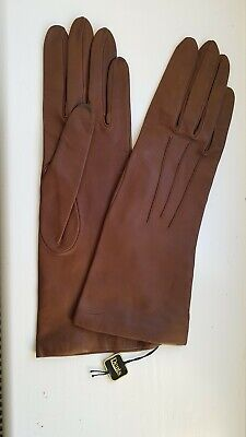 DENTS New Brown Kid Leather Gloves - size 7
