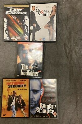 Job Lot Of X5 Dvds Ages Pg 12-15-18 Years, No Reserve! *LOOK* Reduced!