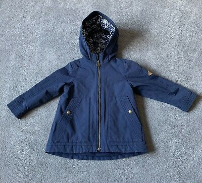 Little Girls Joules Waterfall Waterproof Jacket, French Navy, Age 3 Years