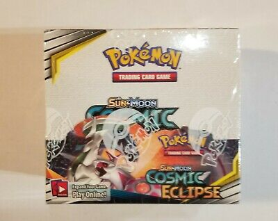 Pokemon Tcg Sun Moon Cosmic Eclipse Booster Box 36 Booster Packs Factory Sealed