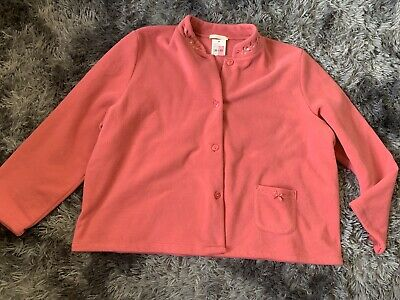 Size 20-22 Womens Pink Fleece Top Brand New With Tags From Marks And Spencer