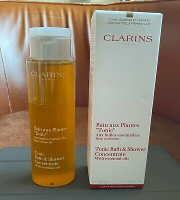 Clarins Tonic Bath & Shower Concentrate  With Essential Oils 200Ml Sealed New