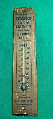 Vintage Antique Advertising Country Store Thermometer Dierks Flooring Buffalo Ny
