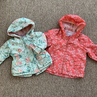 JACKET 3-6 Months NEXT GEORGE Baby Girls Floral Raincoat Bundle VVGC