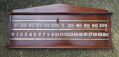 Billiards / Snooker Score Board - Wood & Brass - OLD - Good Condition