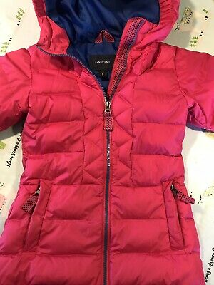 Lands End Girl Down Coat Pink Size 4 Brilliant Condition
