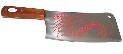 "Andrew Bryniarski Autographed/Signed 8"" Steel Cleaver Leatherface JSA 11084"