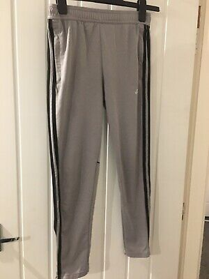 boys Adidas tracksuit bottoms age 11-12 Grey Good Condition
