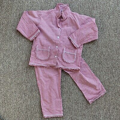 VINTAGE STYLE PYJAMAS 4 Years DONDOLO 100% Cotton ETHICAL Top Trousers VGC