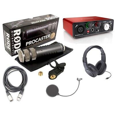 Rode Procaster Podcasting Package w/ Focusrite Scarlett Solo Recording Interface