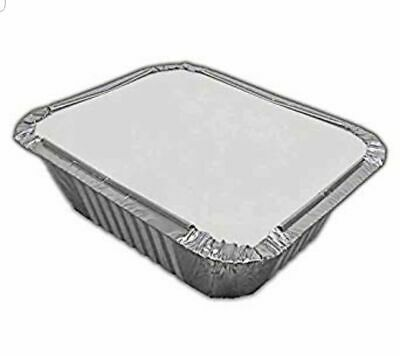 ALUMINIUM FOIL FOOD CONTAINERS+LIDS x 100 No.1 PERFECT FOR HOME AND TAKEAWAY USE