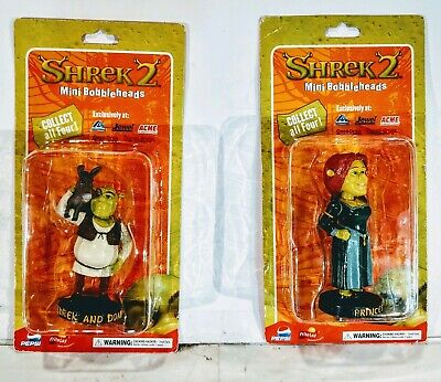 SHREK & DONKEY & Princess Fiona Mini Bobblehead (from SHREK 2) Dreamworks