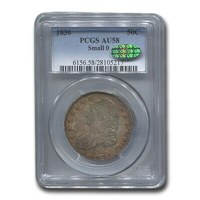 1830 Capped Bust Half Dollar AU-58 PCGS CAC (Small 0) - SKU#206505