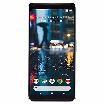 "Grade C Google Pixel 2 XL Black & White 6"" 64GB 4G Unlocked  A3/G011C/64XLWHT/MV"