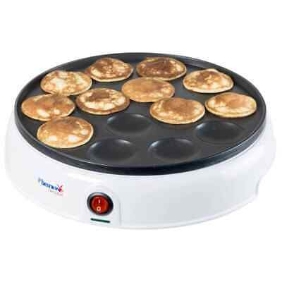 Bestron Appareil à Poffertjes Hollandais 800 W Blanc Gaufrier Machine à Gaufre