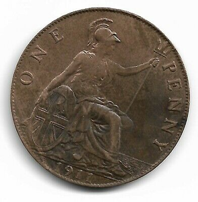 One Penny 1911 Very High Grade.