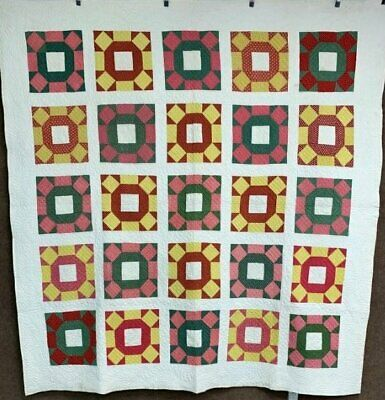 Beautiful Quilting! c 1880-1890s PA Rolling Stone QUILT Antique