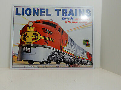 Lionel Train Logo Railroad Round Retro Ad Poster Wall Art Decor Metal Tin Sign