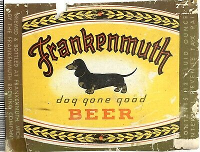 Frankenmuth Pioneer Ale IRTP Label 1933-1942 Geyer Brothers Michigan Conestoga