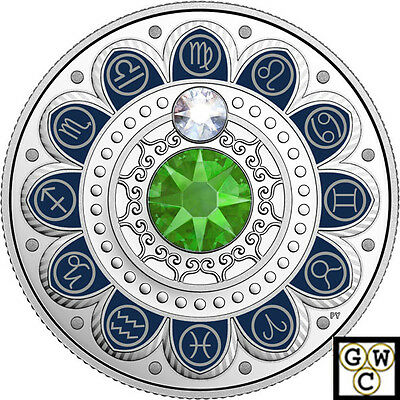 2017 'Virgo-Zodiac Series' Crystalized Proof $3 Silver Coin .9999 Fine (18219)NT