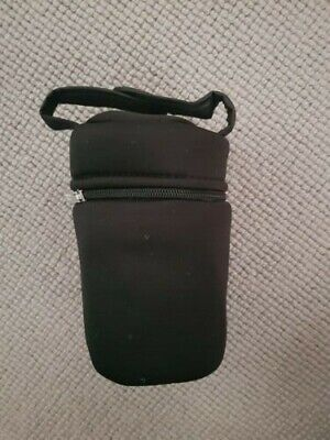 1x Tommee Tippee Closer to Nature Black Insulated Bottle Carriers, Silver Inner