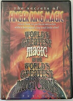 2005 Finger Ring Magic By Worlds Greatest Magicians Tricks Instructional DVD