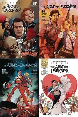 Death To Army Of Darkness #1 Cover A B C D Variant Set Suydam Andolfo Comic 2/12