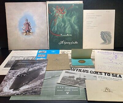 Historic USS Nautilus SSN-571 Submarine Launch, Commission Documents, Medal Lot