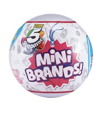 5 Surprise Mini Brands Surprise Ball (1 Ball) by Zuru On Hand Ships FREE & Fast!
