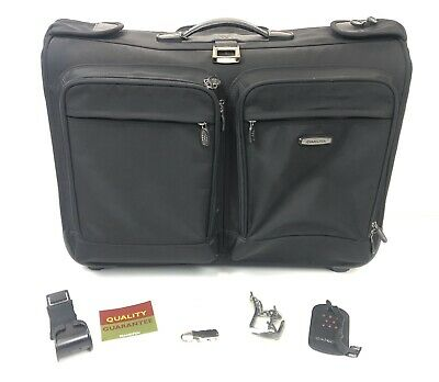 "Dakota Tumi Rolling Ballistic Garment Luggage Bag 24"" x 17"" NICE Wheeled Rolling"