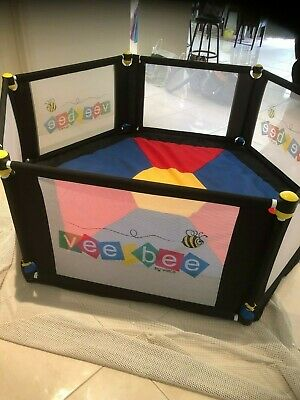 VeeBee Continental 6 Sided Play Yard - Multi Colour