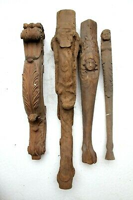 Stunning Hand Carved Gothic Arab Egypt Male Torso Ships Head Wood Sculpture Legs