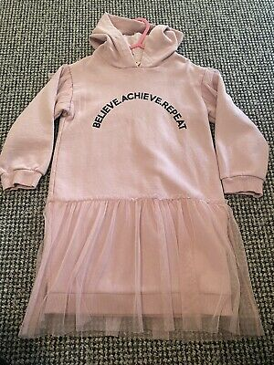 River Island Girls Pink Tutu Jumper Dress 4-5