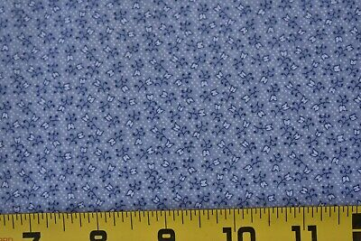 "M7744 By 1//2 Yd Blue on Yellow Fancy Cotton Voile Vintage 1940's-60's 36/"" Wd"
