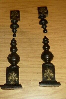 Decorative columns from German mantel clock c1900