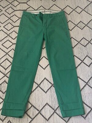 POLO BY RALPH LAUREN Men's Green Cotton Preppy Fit Chino Trousers W32 L32