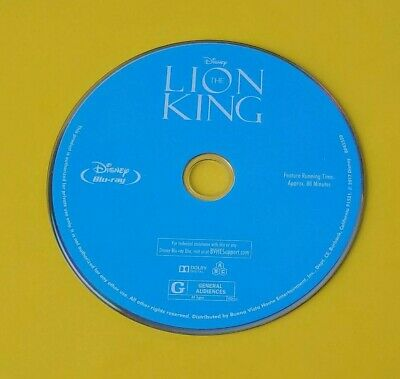 Disney The Lion King 1994 Blu-Ray Disc Only