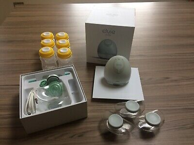 Elvie Silent Wearable Single Electric Breast Pump with extra storage bottles