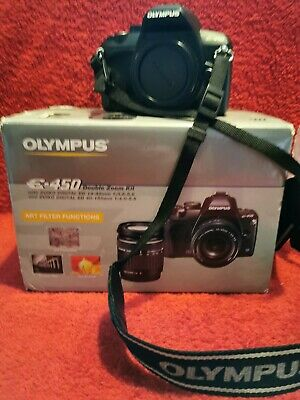 Olympus E-450 Double Zoom Kit, Very Light Use, 14-42mm, 40-150mm