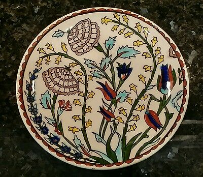 "Turkish  Ceramic  8-5/8""  Plate  ***  Kutahya  Handmade  ***"