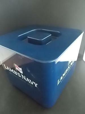 LAMBS NAVY RUM Plastic Ice Bucket Advertising with Liner Supadry Breweriana