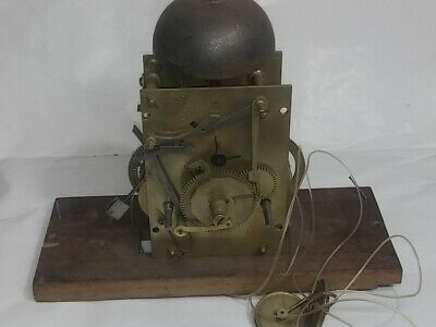 Early English 8 Day Bell Strike Clock Movement