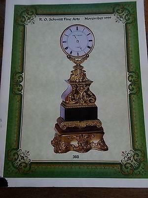 1999 RO SCHMITT Auction Catalogue ANTIQUE CLOCKS & INSTRUMENTS Illustrated